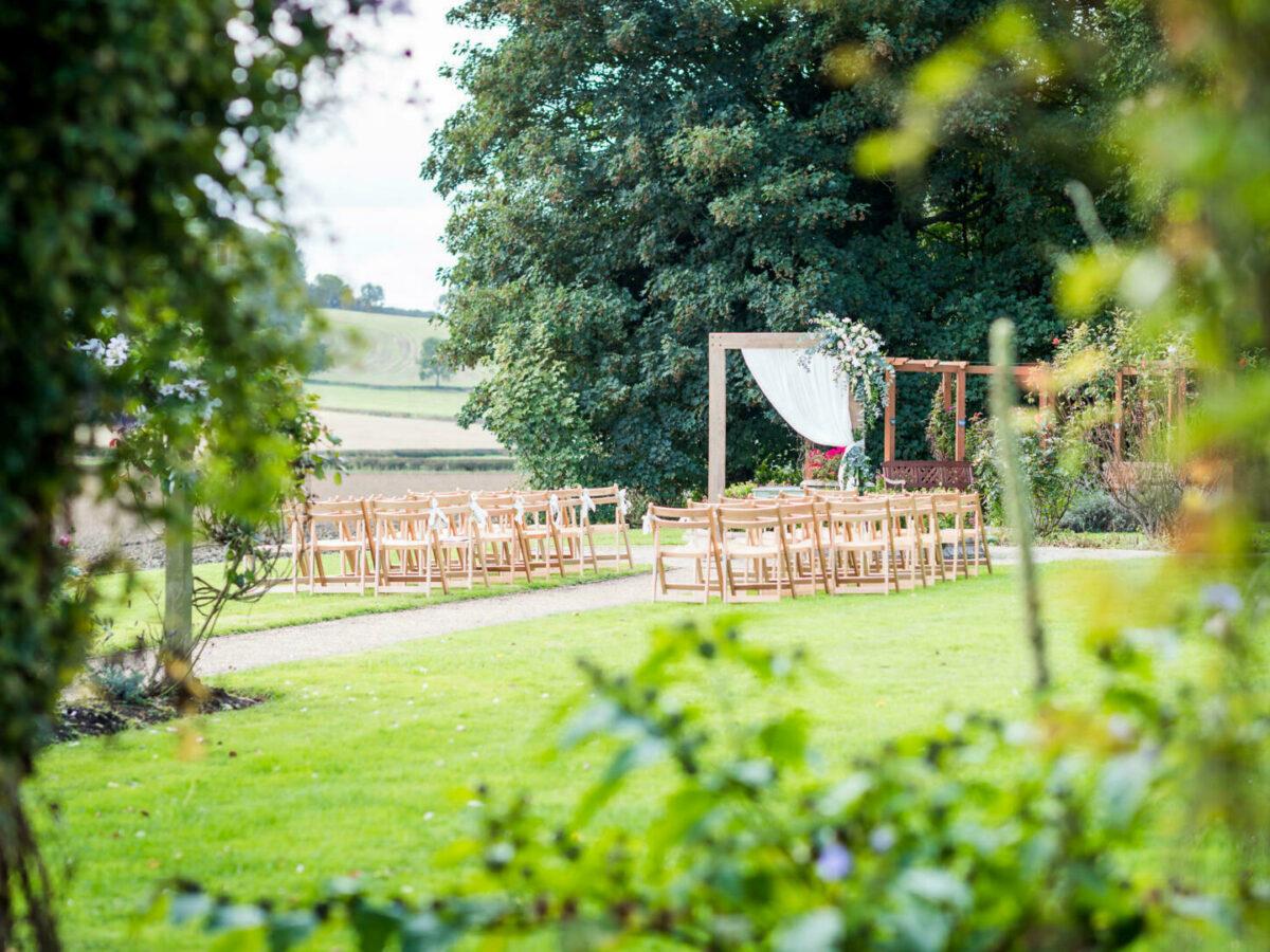 Sunken garden ceremony