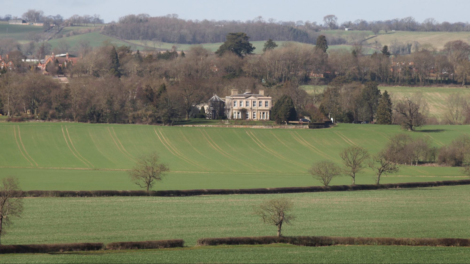Landscape view of Hothorpe Hall