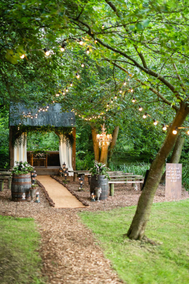 The Woodlands outdoor ceremony area
