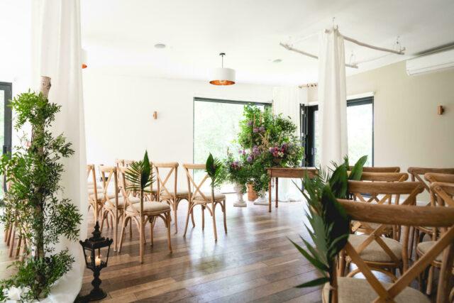 The Woodlands indoor ceremony room