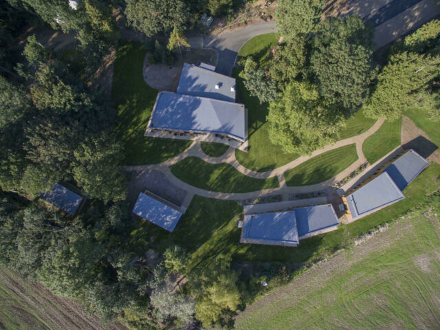 Woodlands aerial view