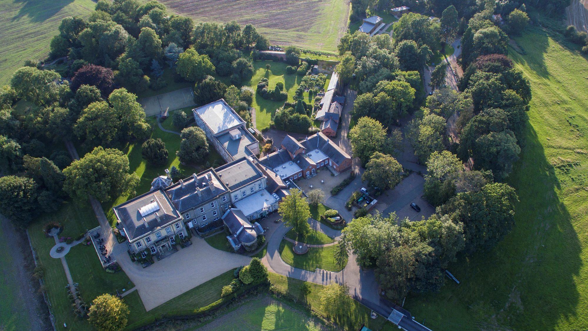 Aerial view of Hothorpe Venues
