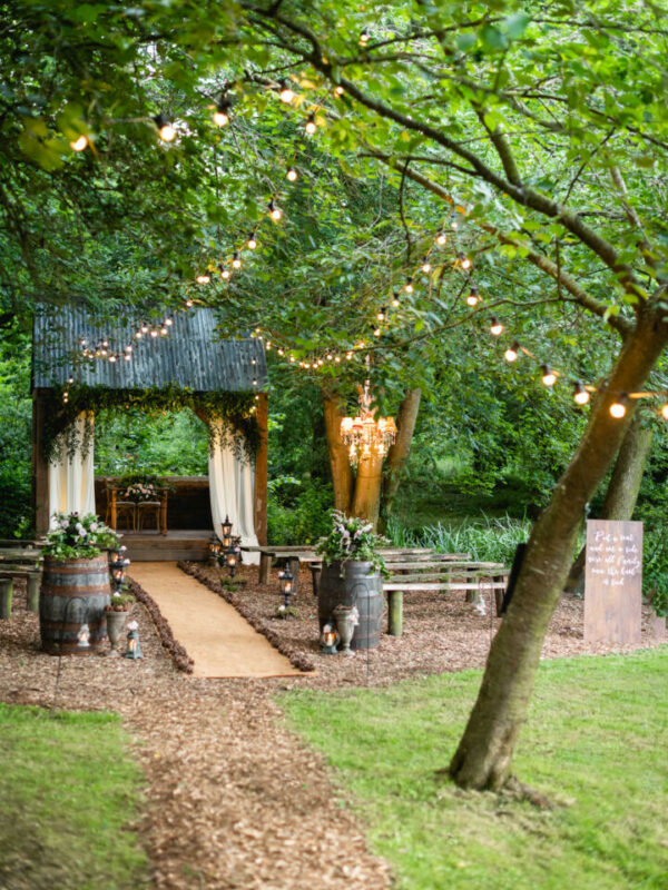 Outdoor woodland wedding