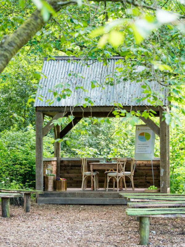Woodland meeting hut