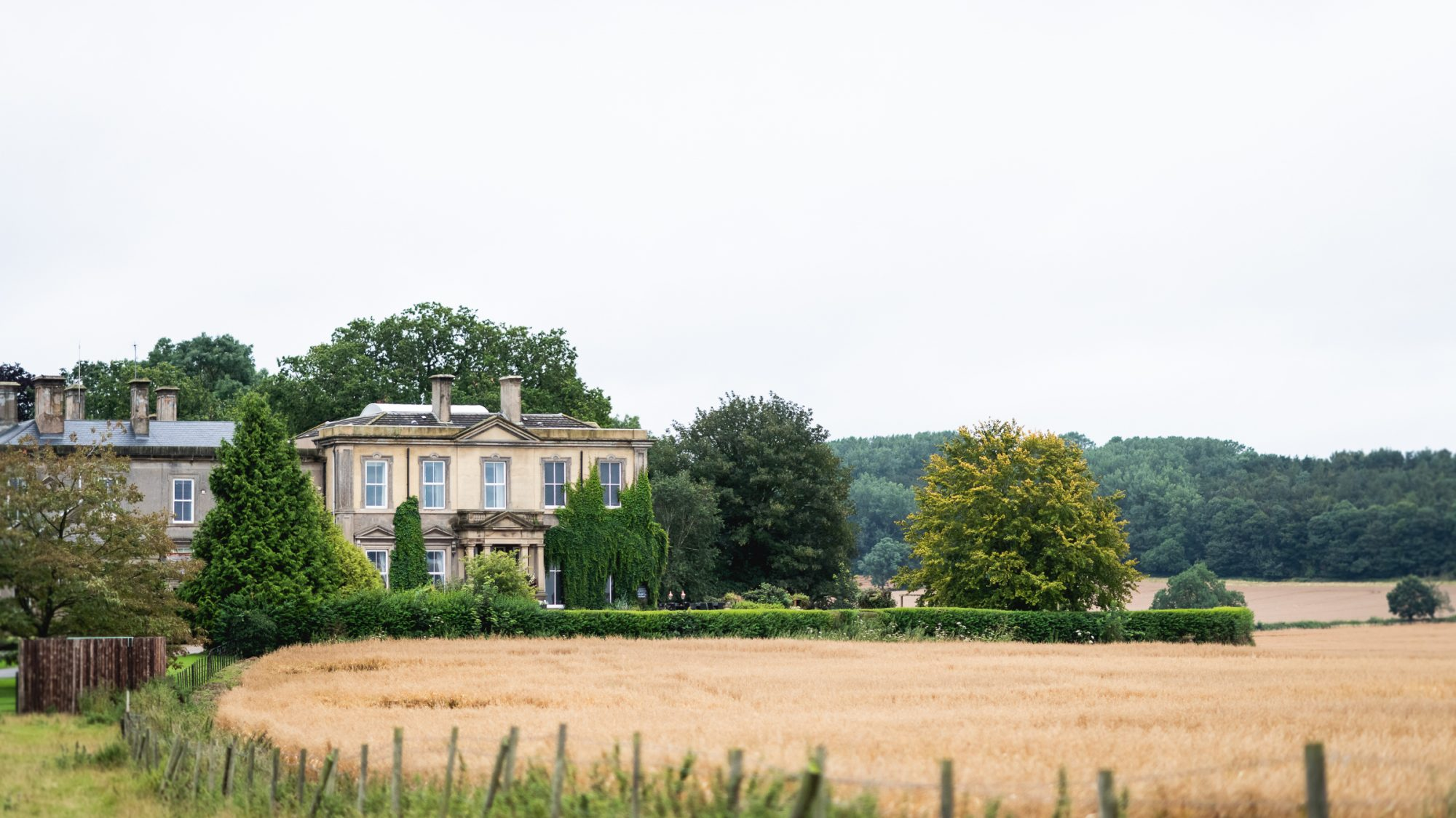 Manor house across field