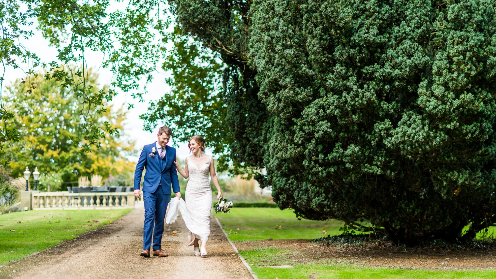 Just married at Hothorpe Hall
